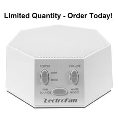 LectroFan White Noise Sound Machine with Fan Sound
