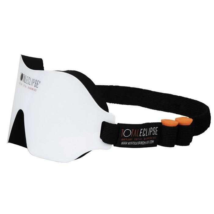 Dream Essentials White Total Eclipse Sleep Mask with Earplugs