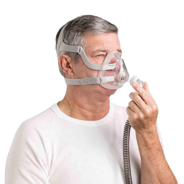 ResMed with AirFit F20 Full Face Mask and setup pack / Medium ResMed AirMini Portable Travel CPAP