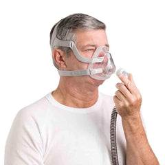 ResMed with AirFit F20 Full Face Mask and setup pack / Small ResMed AirMini Portable Travel CPAP