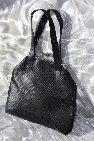 SAMPLE SALE - BLACK MESH HANDBAG