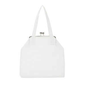 WHITE DATA HANDBAG