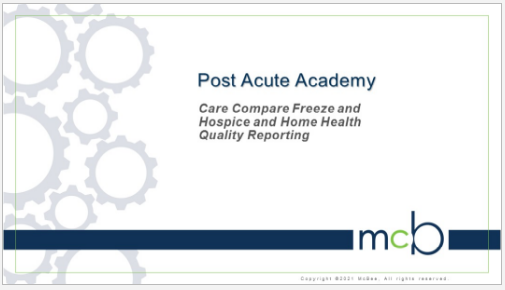 Care Compare and Quality Reporting