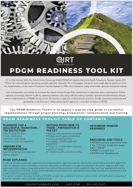 PDGM Readiness Tool Kit