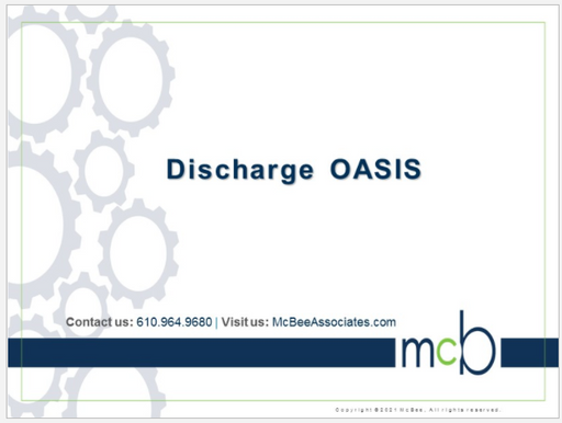 Discharge OASIS Review