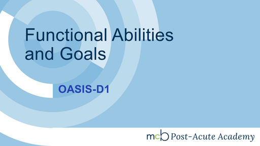 OASIS-D1 - Functional Abilities and Goals