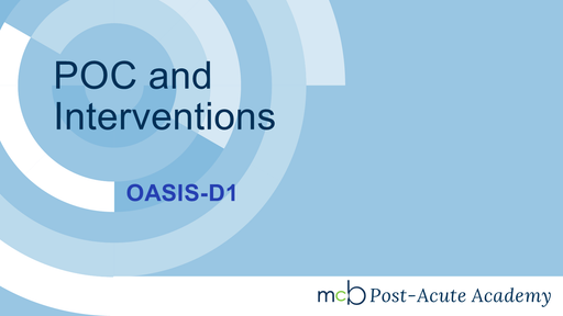 OASIS-D1 - POC and Interventions