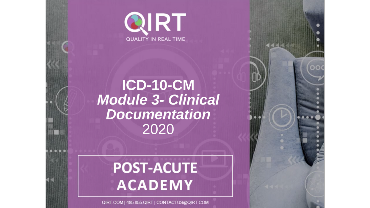 2020 ICD-10 Clinical Documentation