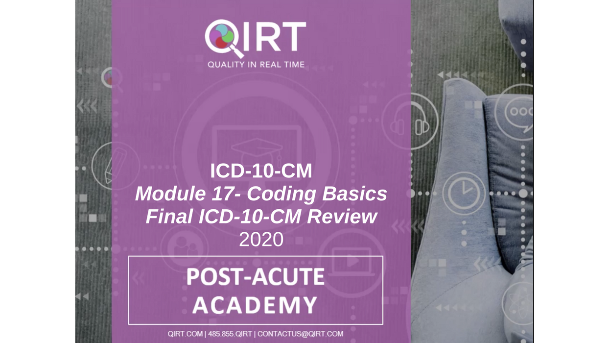 2020 ICD-10 Final Review and Coding Basics