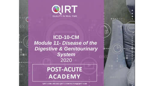 2020 ICD-10 Digestive and Gentiourinary Disease