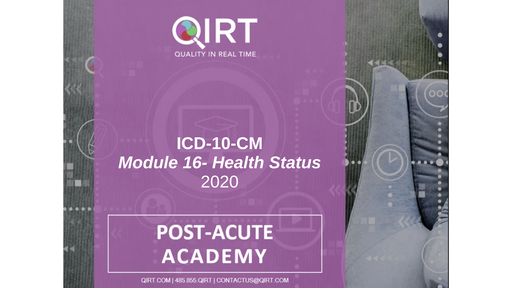 2020 ICD-10 Health Status Chapter 21
