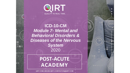 2020 ICD-10 Mental Behavioral Neuro Disease