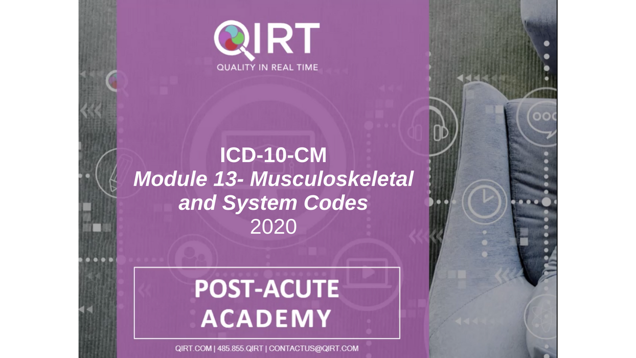 2020 ICD-10 Musculoskeletal and Symptom Codes