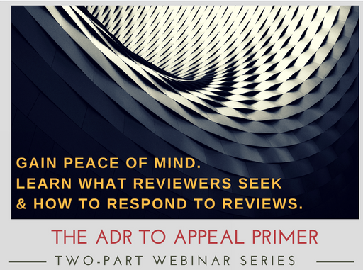 ADR to Appeal Primer Home Health Care Compliance