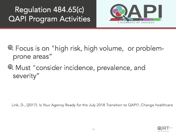 QAPI Program Activities Webinar Home Health Care