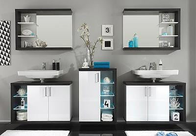 Sun 2 modern high gloss bathroom furniture vanity, made in Europe