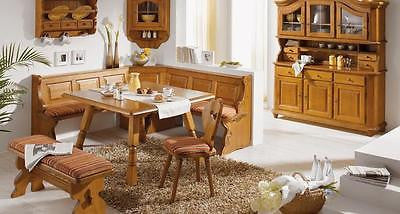 Fuessen  Farmhouse Furniture, cottage dining set, breakfast nook, corner bench - My European Lifestyle