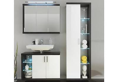 Sun modern high gloss bathroom furniture vanity, made in Europe - My European Lifestyle
