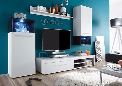 Saturn black and white entertainment center wall unit, made in Europe - My European Lifestyle