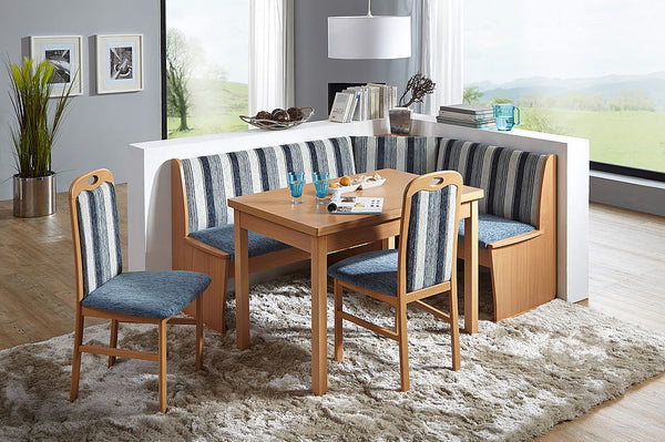 Hamburg Beech Blue Patterned Breakfast Nook - My European Lifestyle