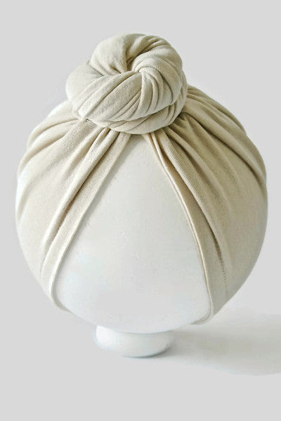 MINI CASHMERE TOP KNOT TURBAN