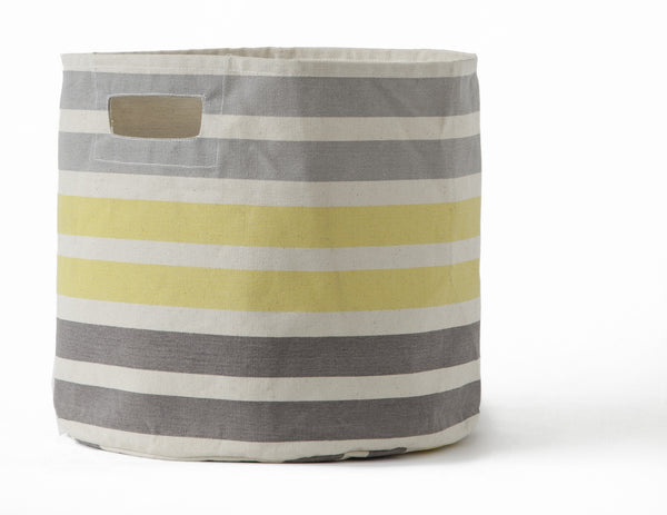 STRIPE STORAGE BIN-GREY STRIPE