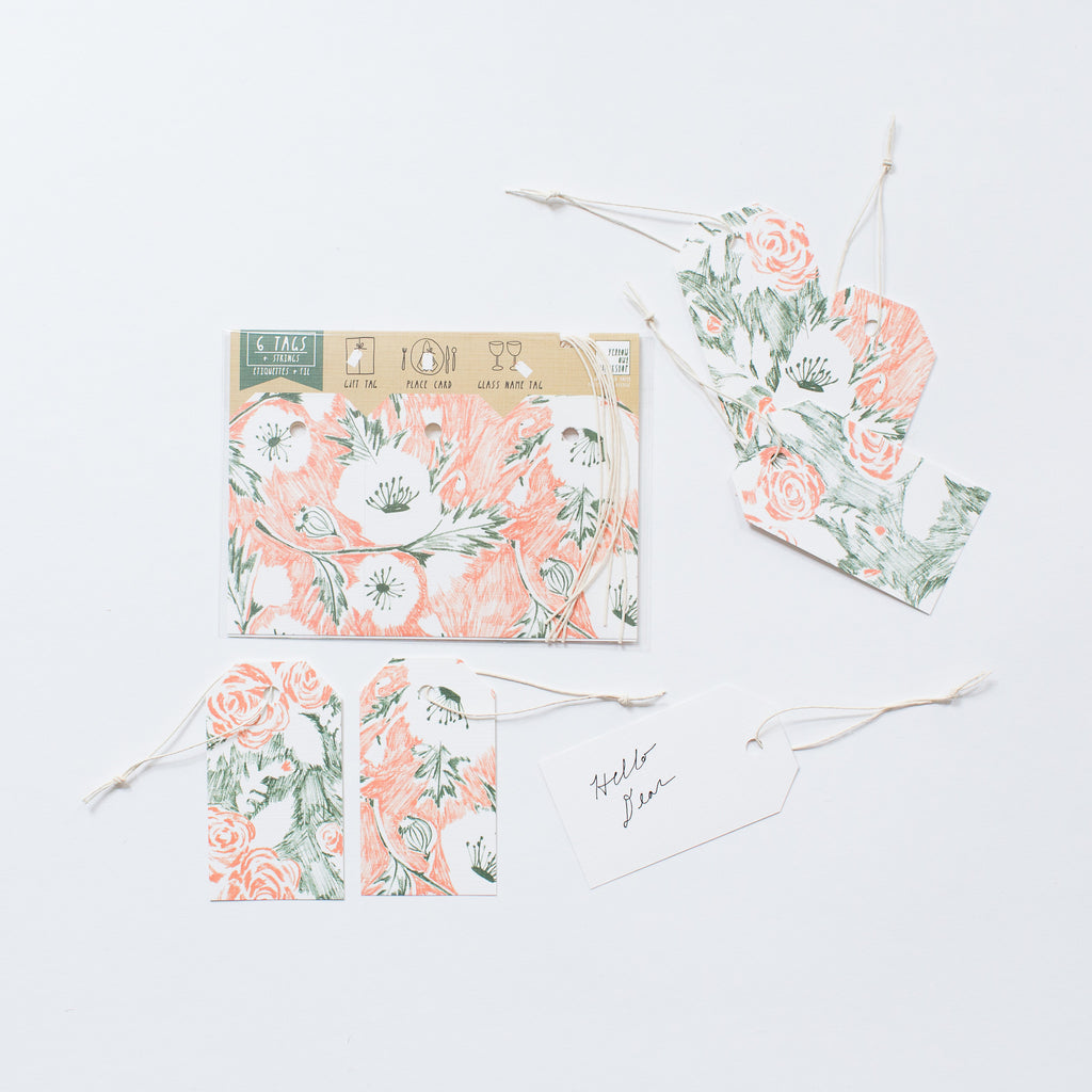 FLORAL GIFT TAGS-SET OF 6