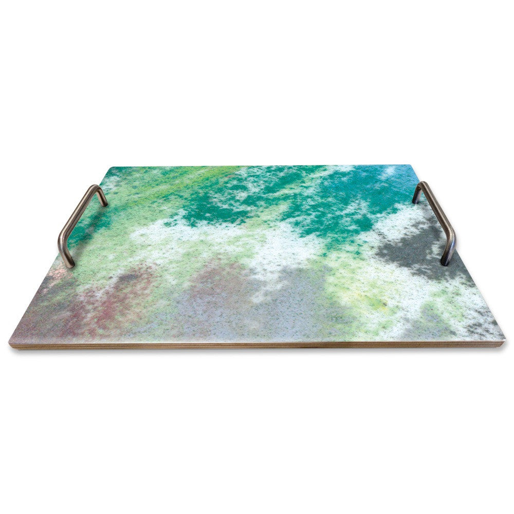 GREEN PASTEL SERVING TRAY