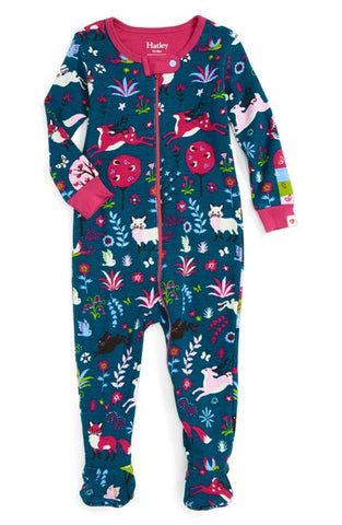BABY FOOTED SET MYSITCAL FOREST PRINT
