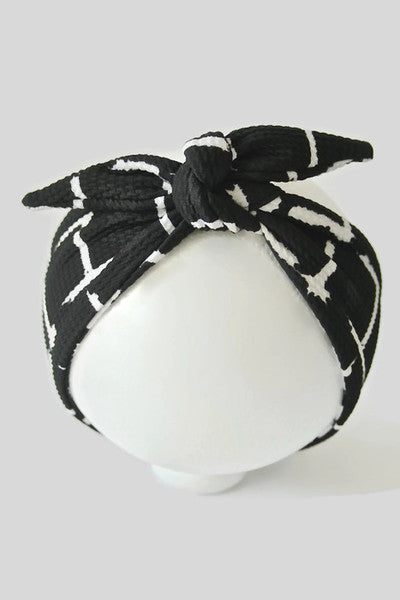 MINI BLACK GRID HEAD-WRAP
