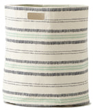 RAILROAD STRIPE HAMPER-INDIGO