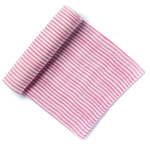 PINK STRIPE SWADDLE