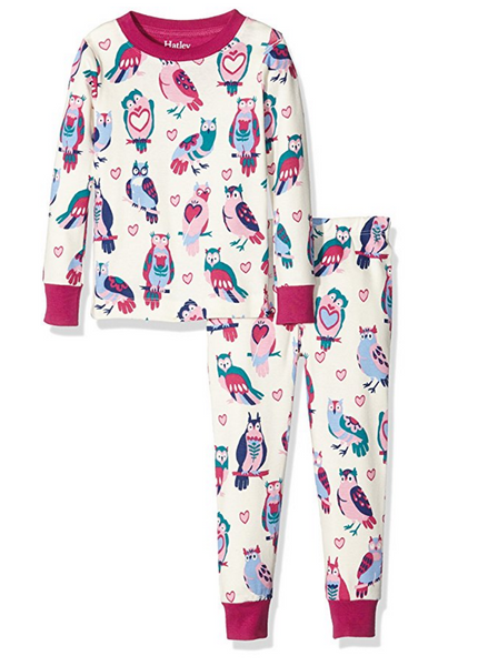 LONG SLEEVE TWO PIECE COVERALL HAPPY OWL PRINT