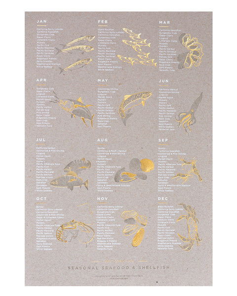 SEASONAL SEAFOOD POSTER