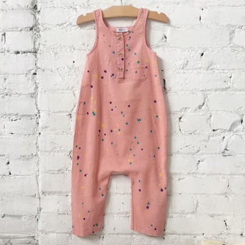 Woodlands Jumpsuit-Pink Multi Splatter
