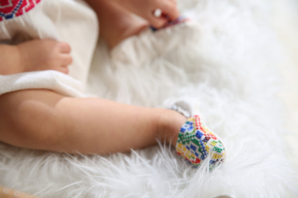 HANDMADE EMBROIDERED BABY SHOES 6-12 MONTHS