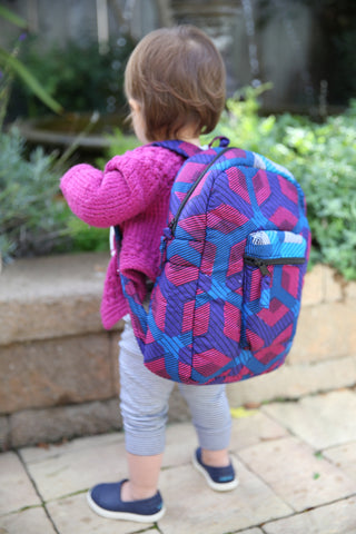 KOBINA MINI PACK IN FUSCHIA TURQ HEXAGON PRINT