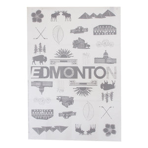 Edmonton City Teatowel - Grey