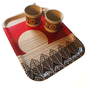 Horizon Red Birch Tray