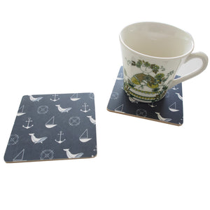 Deep Blue Coasters [set of 4]