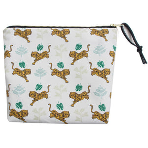 Printed canvas travel pouch [Tiger Eyes]