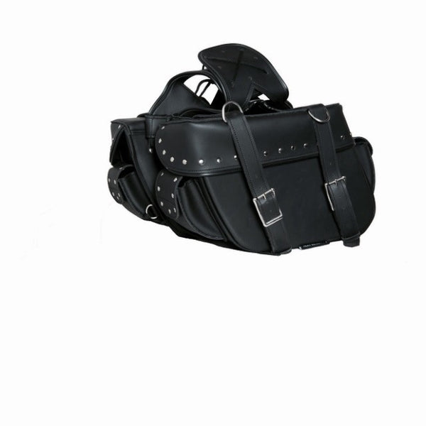 c45db16be70e0 Two Strap Saddle Bag w/Studs – Bay Area Helmets