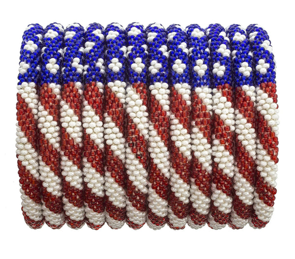 Roll-On® Bracelets Set of 12<br> Stars & Stripes