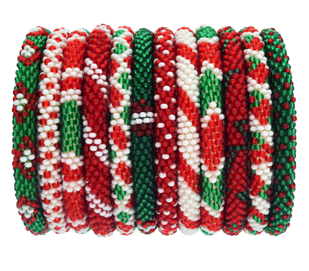 Roll-On® Bracelets Set of 12 <br> Mistletoe