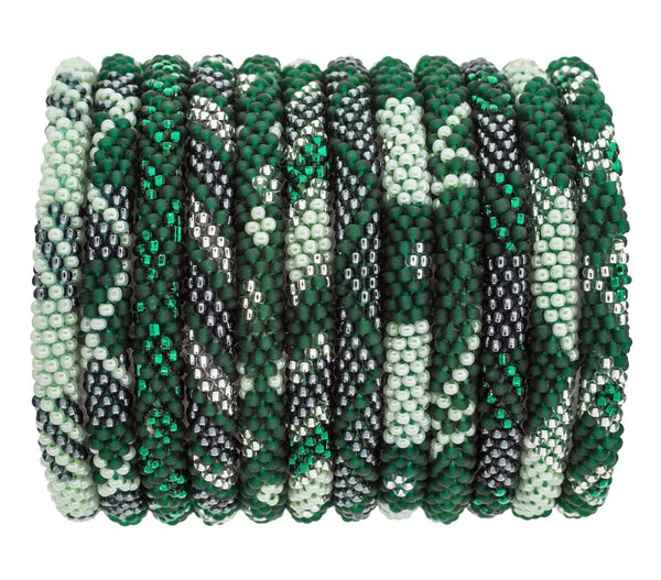 Roll-On® Bracelets Set of 12 <br> Sage