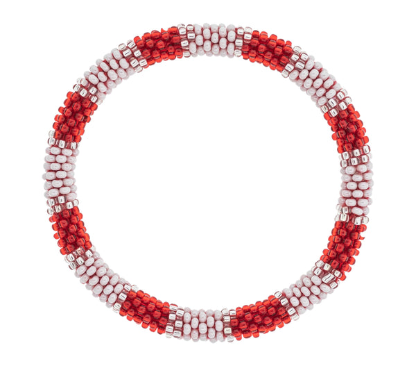 Game Day Roll-On® Bracelet <br> Red and White