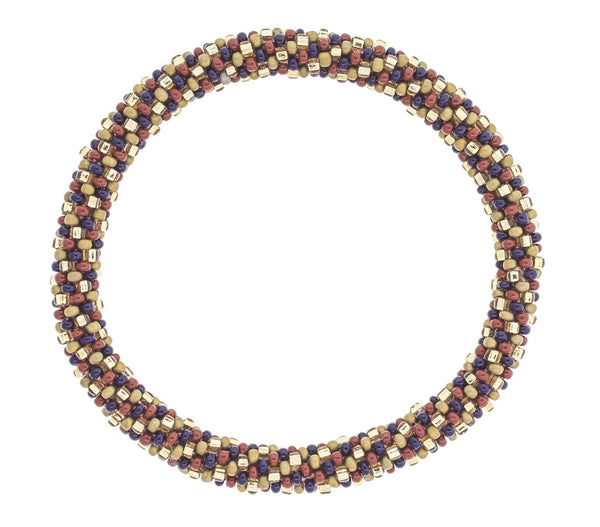 8&quot Roll-On® Bracelet <br> Gold Flakes