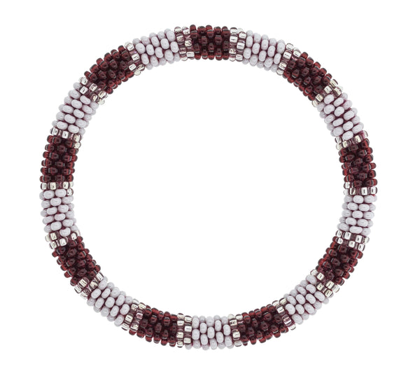 Game Day Roll-On® Bracelet <br> Maroon and White
