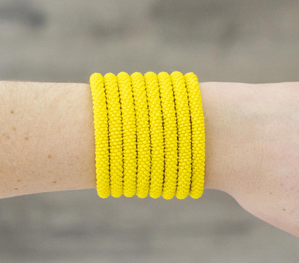 "8"" Roll-On® Bracelet <br> Solid Yellow"