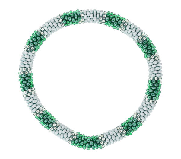 Game Day Roll-On® Bracelet <br> Green and White